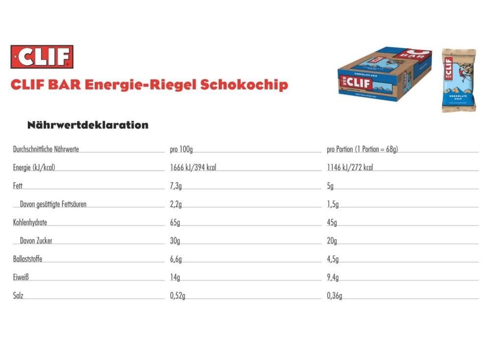 Clif Bar Energy Bar Chocolate Chip